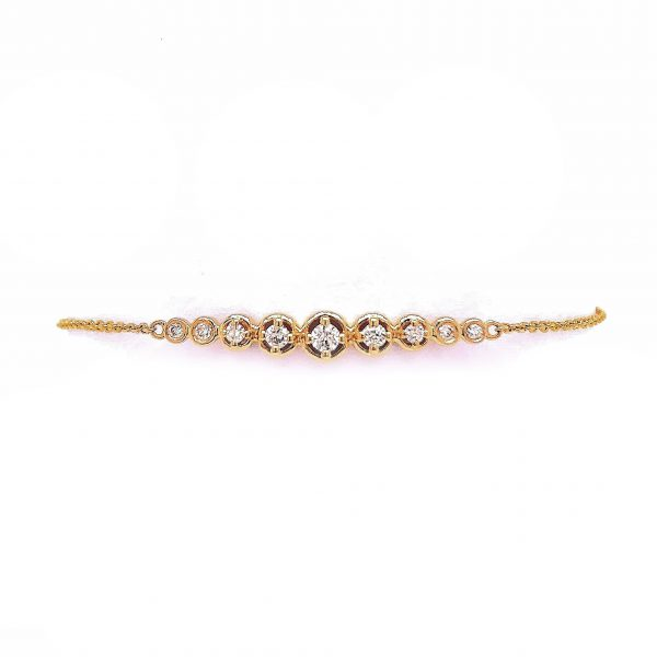 18K Yellow Gold Bracelet with Diamonds