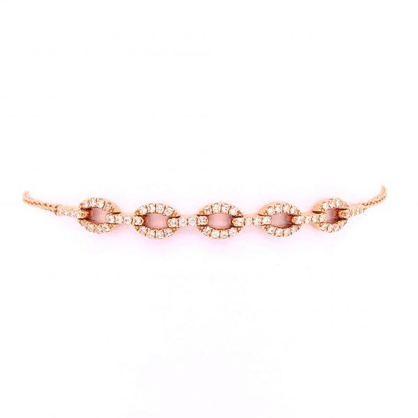 18K Rose Gold Bracelet with Diamonds