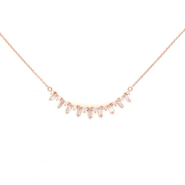 18K Rose Gold Necklace with Diamonds